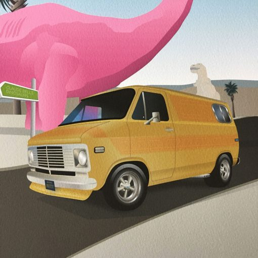 Cabazon Dinosaurs G20 Chevy Van