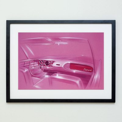 Lincoln Continental Concept Drawing Art Print
