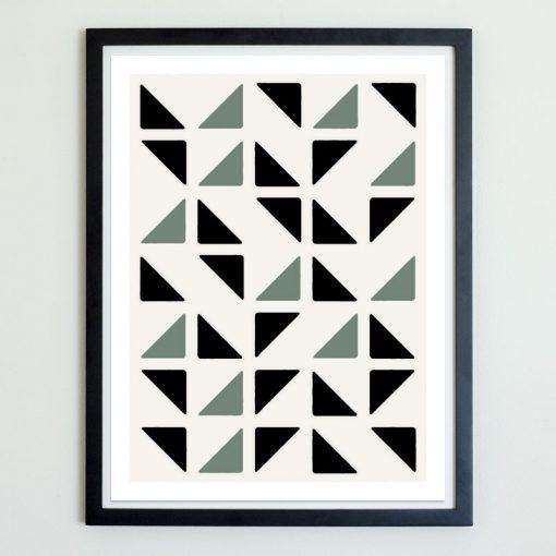 Triangular Breeze Block Art Print