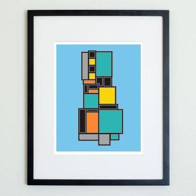 Colorblock Structure Print No 2
